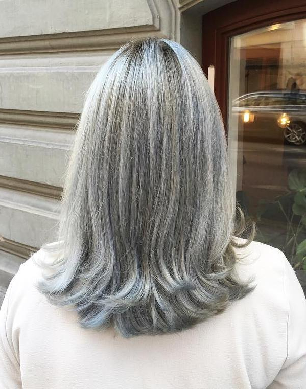 Gray Hairstyles And Haircuts Ideas For 2019 — Therighthairstyles Throughout Long Hairstyles Colors And Cuts (View 17 of 25)