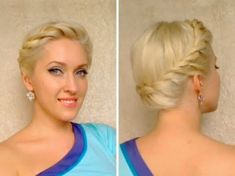 Greek Goddess Crown Braid Tutorial Twisted Prom Updo Hairstyle Within Twisting Braided Prom Updos (View 19 of 25)