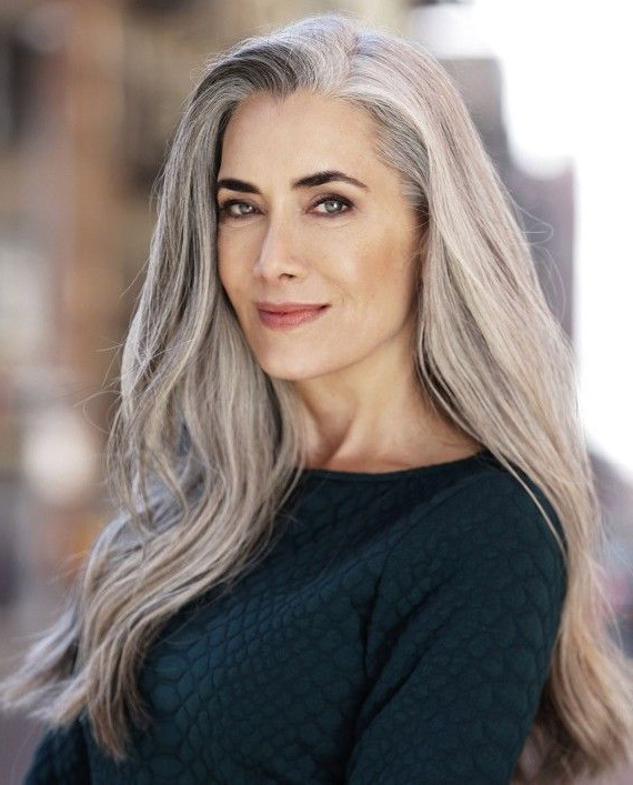 Grey Locks: How Long Is Too Long? | Beautiful Ladies | Hair, Silver Pertaining To Long Hairstyles For Grey Haired Woman (View 13 of 25)