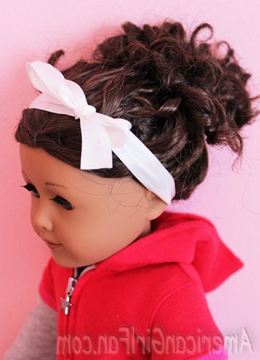 Hair Care And Styles – Curly Bun Style | American Girl Doll Regarding Cute Hairstyles For American Girl Dolls With Long Hair (View 17 of 25)