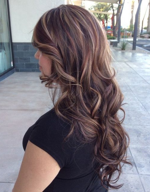 Hair Color Ideas For Brunettes With Highlights Long Hairstyles | Inside Long Hairstyles Colors (View 16 of 25)