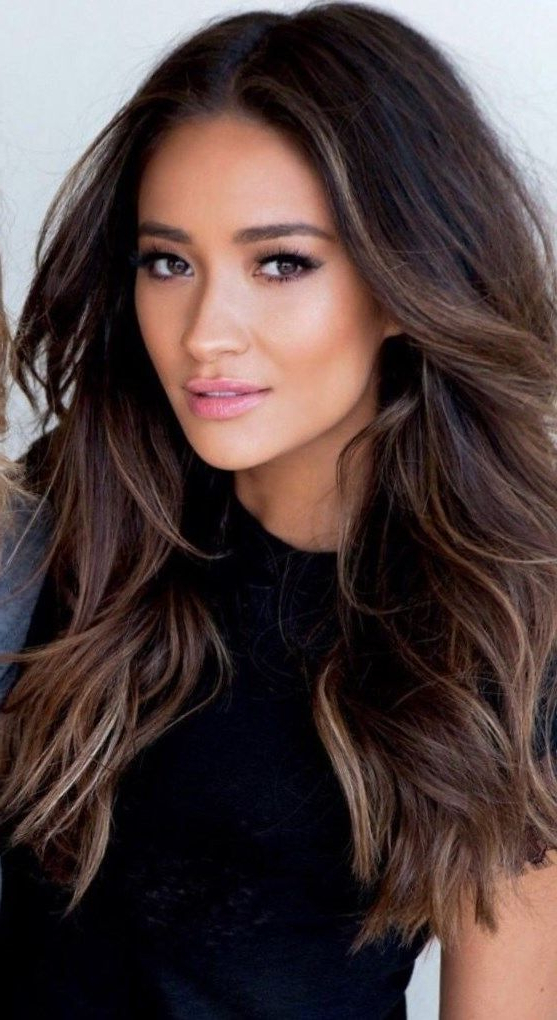 Hair Color | Womens Hairstyles | Hair Color 2017, Burnette Hair Pertaining To Dark Brown Long Hairstyles (View 5 of 25)