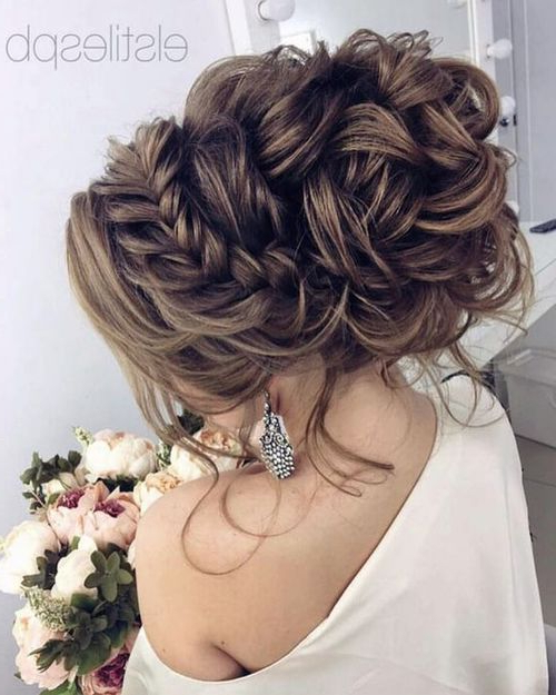 Featured Photo of Curled Floral Prom Updos
