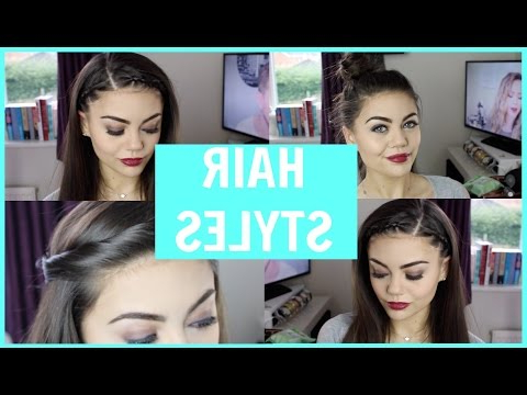Hair Styles To Keep Your Hair Off Your Face! – Youtube Inside Long Hairstyles Off The Face (View 22 of 25)