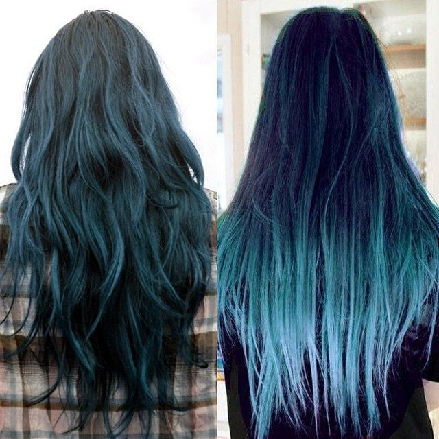 Hair Trends 2015: 10 Hottest Blue Dip Dye Hair Colors For Long Regarding Long Hairstyles Dyed (View 3 of 25)