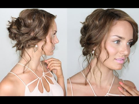 Hair Tutorial: Tousled, Beachy & Chic Summer Updo – Youtube Intended For Tousled Prom Updos For Long Hair (View 6 of 25)