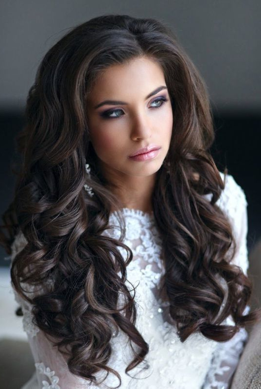 Hair – Wedding Hairstyle: Down In Curls #2719242 – Weddbook With Regard To Long Hairstyles Down For Wedding (View 20 of 25)