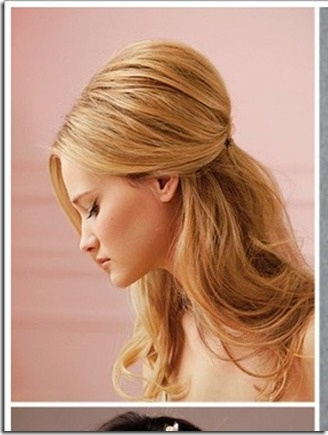 Hair With Volume Pulled Back | Mellystyle | Hair Styles, Long Hair Within Long Hairstyles Half Pulled Back (View 2 of 25)