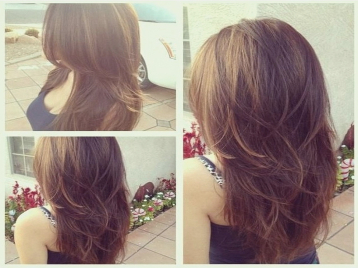 Haircut For Long Hair With Layers Back View Layered Long Hair Back For Long Hairstyles Layers Back View (View 15 of 25)