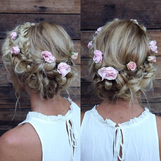 Hairstyle Best For My Face Shape   Prom Hairstyles Messy   Braided Regarding Floral Braid Crowns Hairstyles For Prom (View 9 of 25)