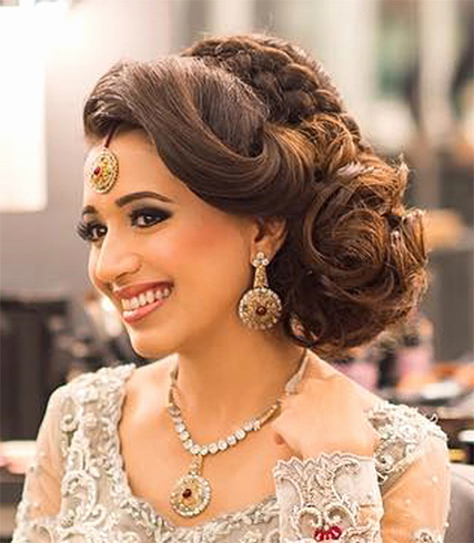 Hairstyles For Bride Beautiful 60 Traditional Indian Bridal For Indian Bridal Long Hairstyles (View 21 of 25)