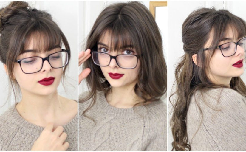 Hairstyles For Girls With Bangs & Glasses – Loepsie Inside Long Hairstyles For Girls With Glasses (View 2 of 25)