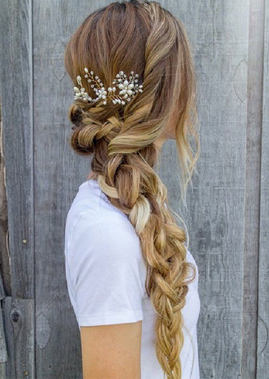 Hairstyles For Long Hair Braids For Prom Regarding Long Hairstyles Plaits (View 22 of 25)