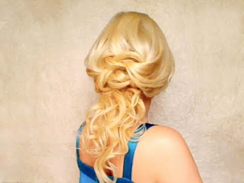 Hairstyles For Long Hair With Curls Entertaining Knotted Half Updo Intended For Long Layered Half Curled Hairstyles (View 25 of 25)