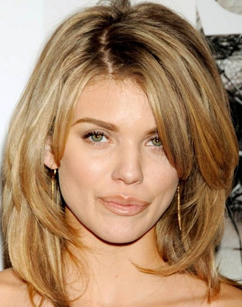 Hairstyles : Medium Long Length Haircuts For Thick Hair Impressively Regarding Medium Long Haircuts For Thick Hair (View 21 of 25)