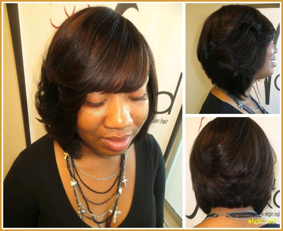 Hairstyles : Natural Quick Weave Layered Bob Hairstyles Of Super Within Long Bob Hairstyles With Bangs Weave (View 19 of 25)