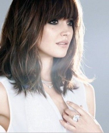 Hairstyles With Fringes Long Bob With Fringe Kudu Hair Extensions Inside Long Bob Hairstyles With Bangs (View 3 of 25)