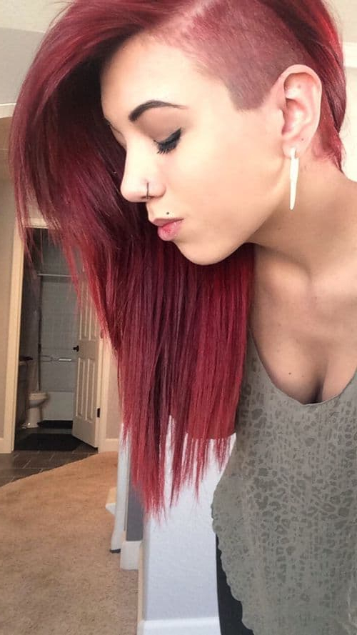 Half Shaved Hairstyles For Women | Womens Hairstyles Regarding Half Shaved Long Hairstyles (View 16 of 25)