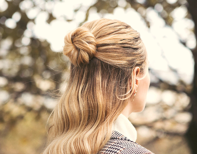 Half Up Bun And Low Bun Hairstyles That'll Make You Look Chic And With Looped Low Bun Hairstyles (View 14 of 25)