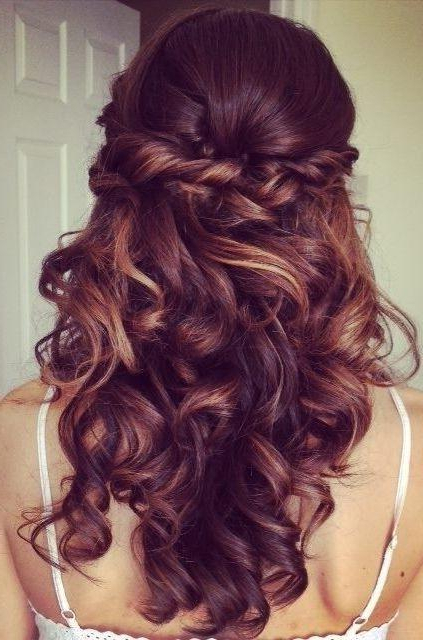 Half Up Half Down Hairstyle For Curly Hair – Prom Long Hairstyles Regarding Long Hairstyles Half Up Curls (View 25 of 25)