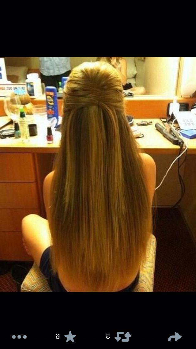 Half Up Half Down Straight | Ash | Hair, Long Hair Styles, Formal Pertaining To Long Hairstyles Down Straight (View 6 of 25)