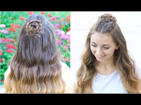 Half Up Rosette Combo   Homecoming Hairstyles – Youtube Inside Rosette Curls Prom Hairstyles (View 11 of 25)