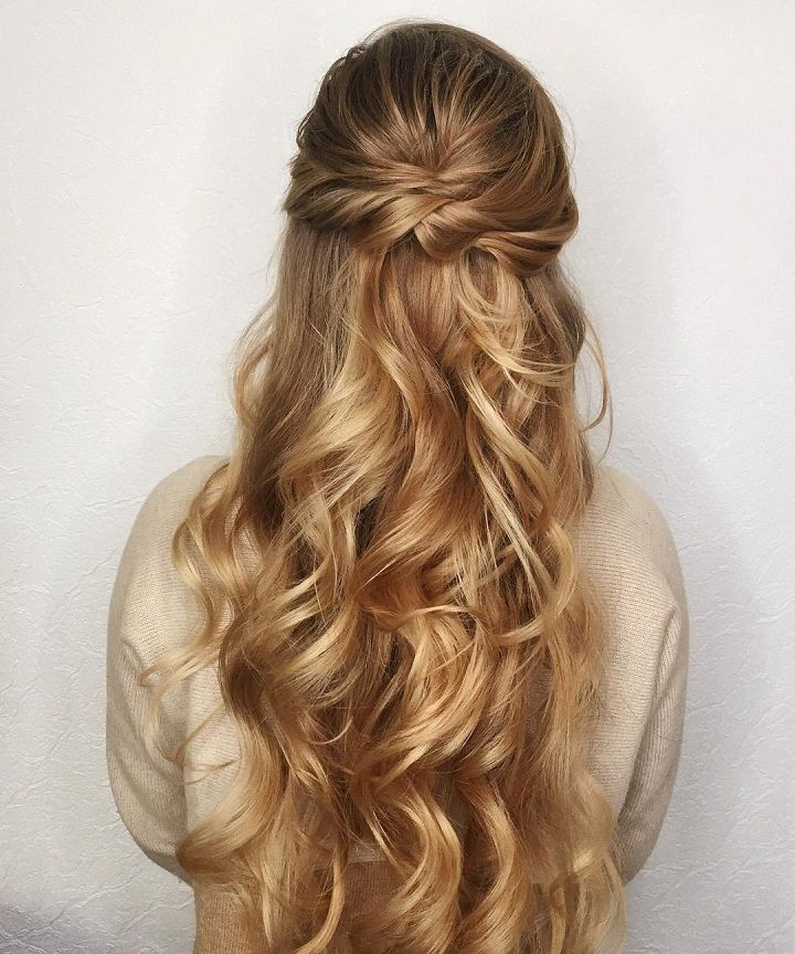 Half Updo Wedding Hairstyles Long Hair – Gegehe Regarding Wedding Half Up Long Hairstyles (View 14 of 25)