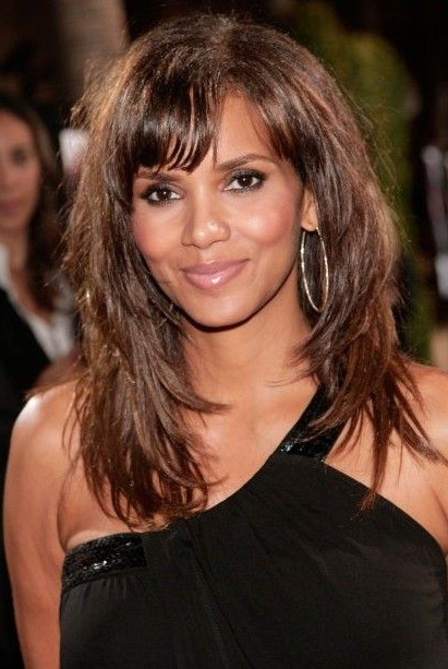 Halle Berry Layered Long Hairstyle With Bangs | Stylin' | Long Hair Throughout Halle Berry Long Hairstyles (View 2 of 25)