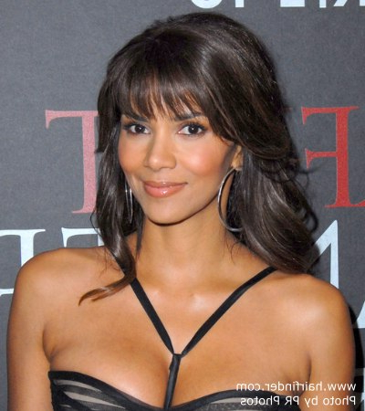 Halle Berry's Hairstyle With Curls That Cascade Down Her Back Inside Halle Berry Long Hairstyles (View 10 of 25)