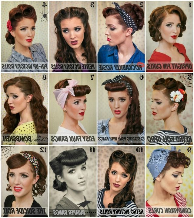 Halloween Inspiration: Retro Hair Tutorial Round Up – The Freckled Within Easy Vintage Hairstyles For Long Hair (View 22 of 25)