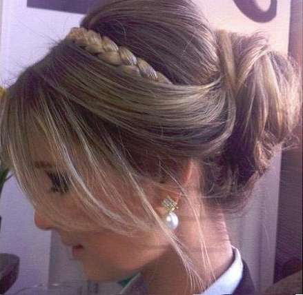 Headband Braid & Bun | Hairstyles How To In Teased Prom Updos With Cute Headband (View 22 of 25)