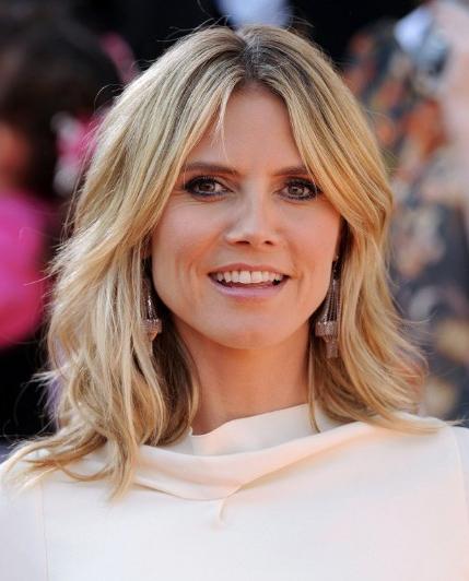 Heidi Klum Medium Razored Layered Haircuts – Popular Haircuts Inside Razored Layers Long Hairstyles (View 12 of 25)