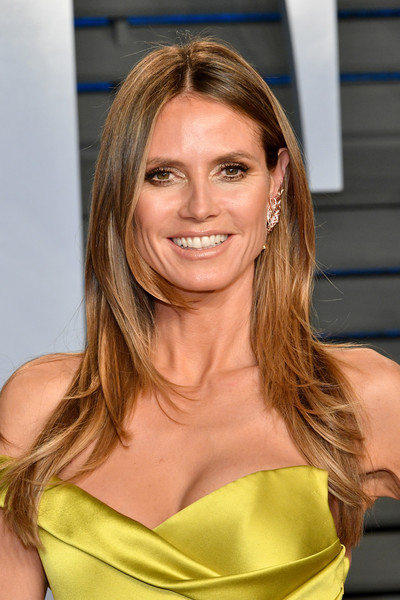 Heidi Klum's Face Framing Layers – Chic Long Hairstyles For Women Intended For Face Framing Layers For Long Hairstyles (View 21 of 25)
