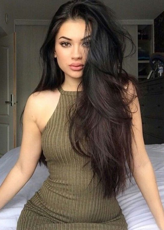 Here We Put The Adorable And Sexy Long Black Hairstyles 2017 For Inside Long Hairstyles Dark Hair (View 16 of 25)