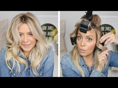 Hot Rollers Are The Secret To The Best Hair Of Your Life | Brit + Co Regarding Long Hairstyles Using Hot Rollers (View 2 of 25)