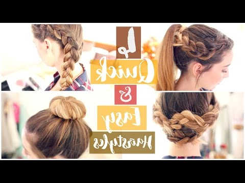 How To: 4 Quick & Easy Hairstyles | Zoella Ad – Youtube Intended For Zoella Long Hairstyles (View 22 of 25)
