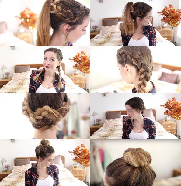 How To: 4 Quick & Easy Hairstyles | Zoella | Fancy Face | Hair In Zoella Long Hairstyles (View 3 of 25)