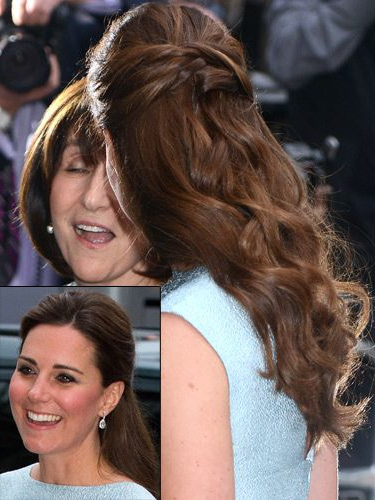 How To Copy Kate Middleton's Half Up Half Down Hairstyle Within Long Hairstyles Kate Middleton (View 18 of 25)