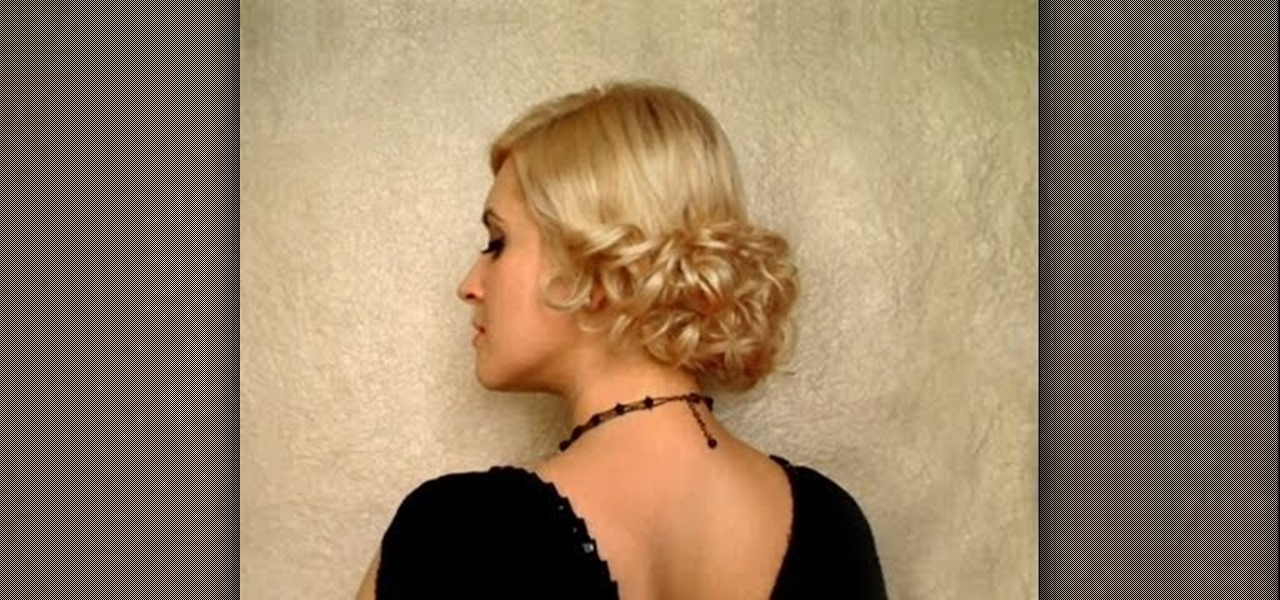 How To Create An Elegant Low Curly Bun Hairstyle For A Wedding Inside Side Bun Prom Hairstyles With Soft Curls (View 16 of 25)