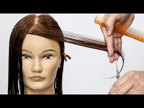 How To Cut Perfect Face Framing Layers For Long Hair – Youtube Throughout Descending Face Framing Layers For Long Hairstyles (View 9 of 25)