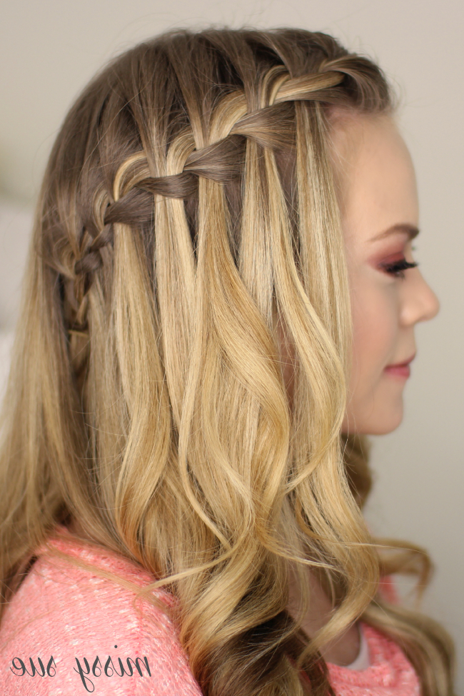 How To Do A Waterfall Braid Regarding Cascading Curly Crown Braid Hairstyles (View 22 of 25)