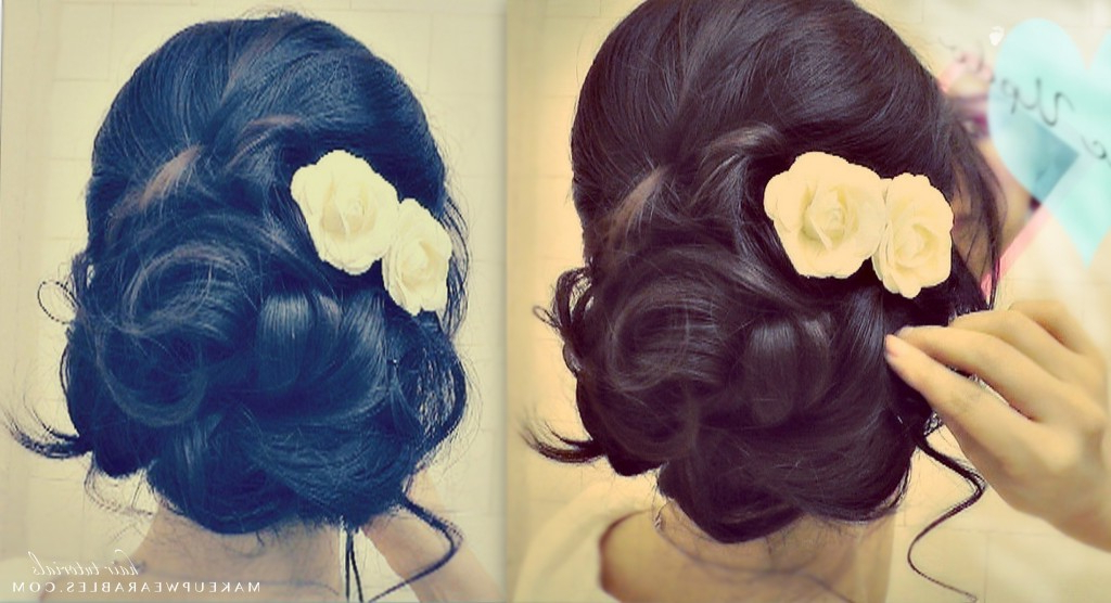 How To: Elegant Updo With Curls | Wedding Prom Hairstyles Inside Elegant Curled Prom Hairstyles (View 19 of 25)