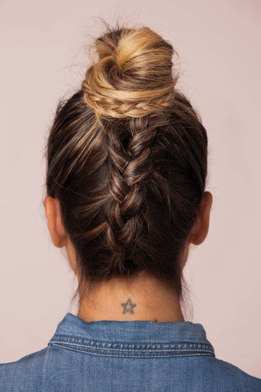 How To French Braid Your Hair Upside Down! | All Things Hair Uk Inside Upside Down Braid And Bun Prom Hairstyles (View 22 of 25)