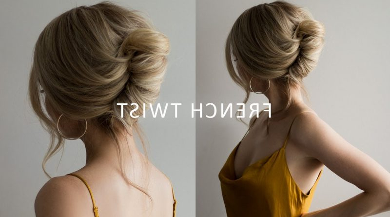 How To: French Roll Updo Hairstyle ? Perfect For Prom, Weddings Within French Roll Prom Hairstyles (View 20 of 25)