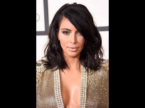 How To: Kim Kardashian Bob In Five Minutes! – Youtube In Long Bob Hairstyles Kim Kardashian (View 20 of 25)