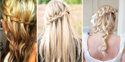 How To Make A Waterfall/fairytale Braid: 10 Steps (With Pictures) Pertaining To Cascading Curly Crown Braid Hairstyles (View 19 of 25)