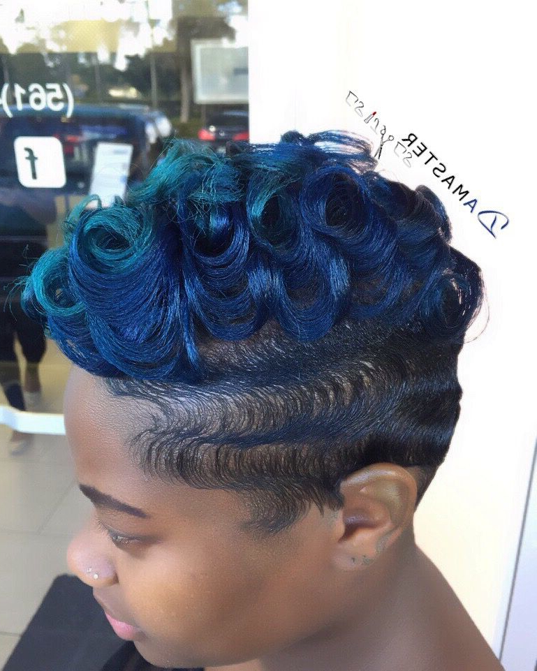 Hues Of Blue. Finger Waves And Curls (View 5 of 25)