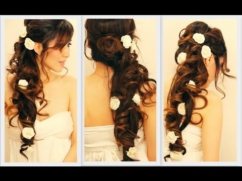 Huzzaz – ? Elegant Side Swept Curls Wedding Prom Hairstyles Inside Long Side Swept Curls Prom Hairstyles (View 18 of 25)