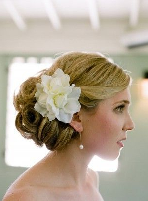 I Love The Low Side Bun With The Flower   Wedding Ideas   Wedding Inside Side Bun Prom Hairstyles With Orchids (View 2 of 25)