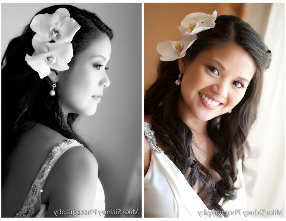 Inspiration Tuesdays ~ Top 10 Wedding Hairstyles With Flowers   Best For Side Bun Prom Hairstyles With Orchids (View 23 of 25)